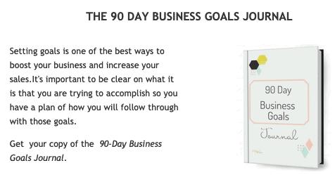 Goals Journal Freebie